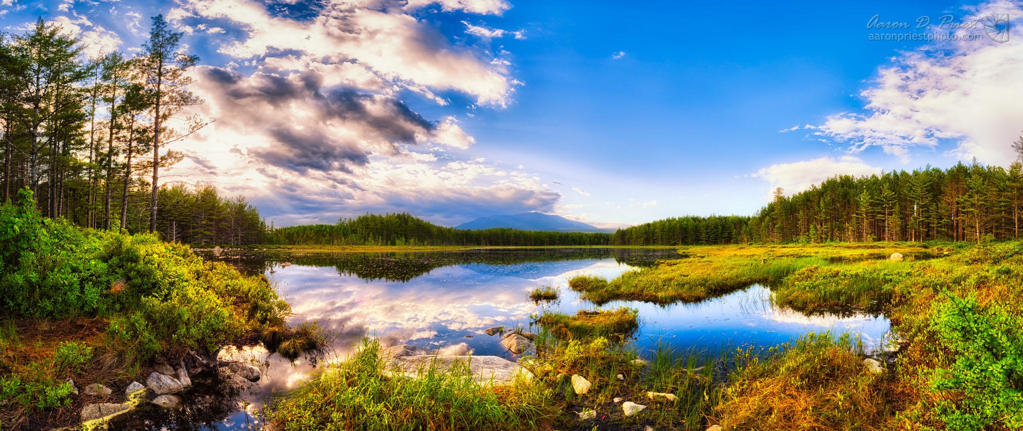 Mt. Katahdin reflecting in Sunday Pond